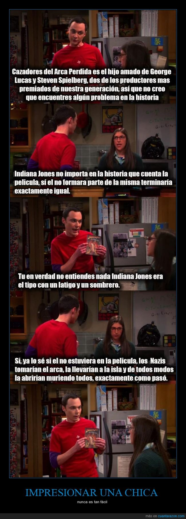 Amy,En busca del arca perdida,Indiana Jones,Sheldon