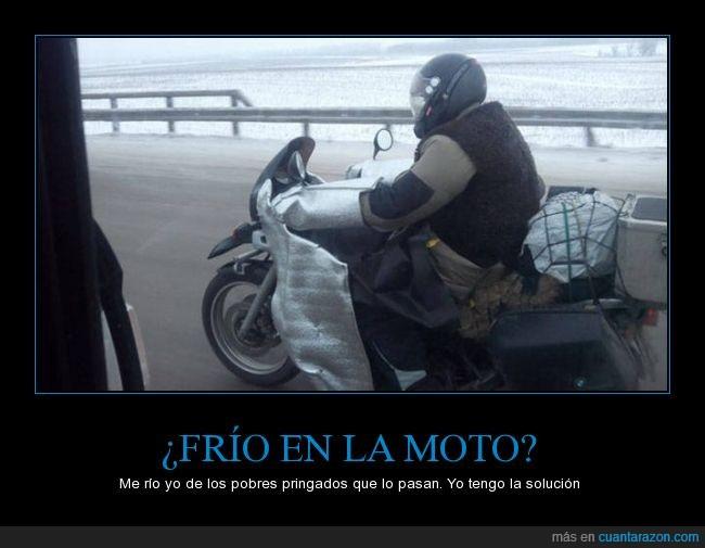 frío,moto,parece peligroso,protección,protector,Rusia,ruso,térmico