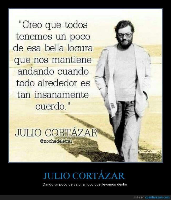 Julio Cortázar,literatura,locura,mundo,reflexión
