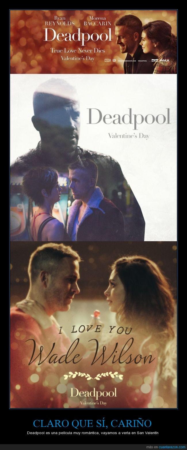 amor,cariño,Deadpool,drama,engañar,mentira,montaje,novia,novio,romance,romántica