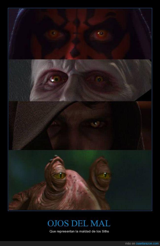 amenaza fantasma,Anakin,Darth Vader,Dath Maul,Dath Sidious,Imperio sith,Jar Jar Binks,mal,mirada,sith,star wars