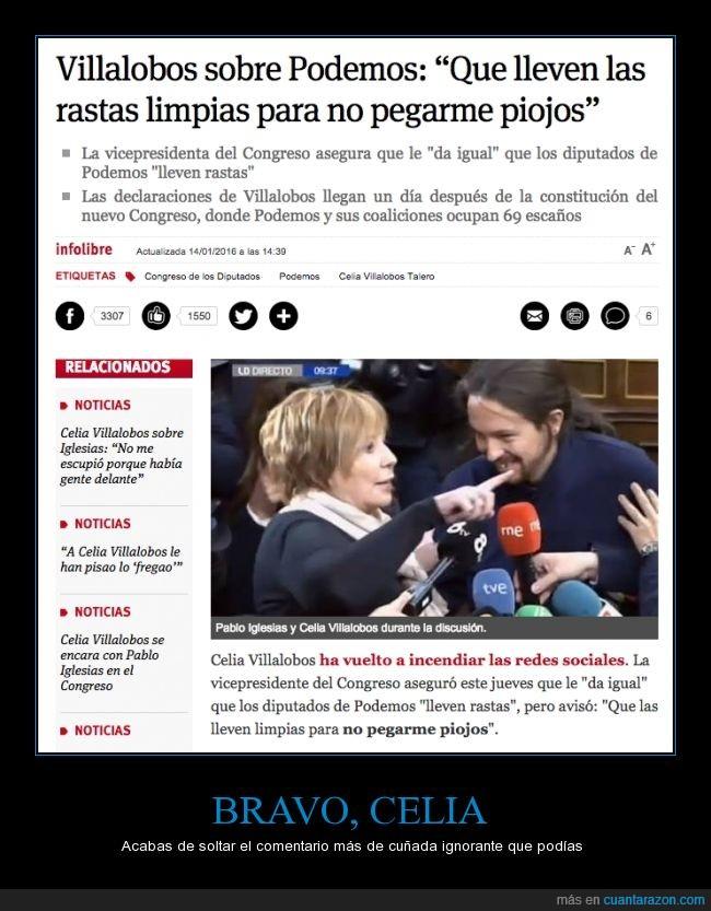Celia Villalobos,comentario,Congreso,cuñada,limpias,piojos,rastas,sucio,Vicepresidenta