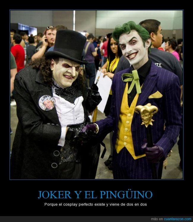 Batman,cosplay,disfraz,enemigo,Joker,perfecto,Pingüino