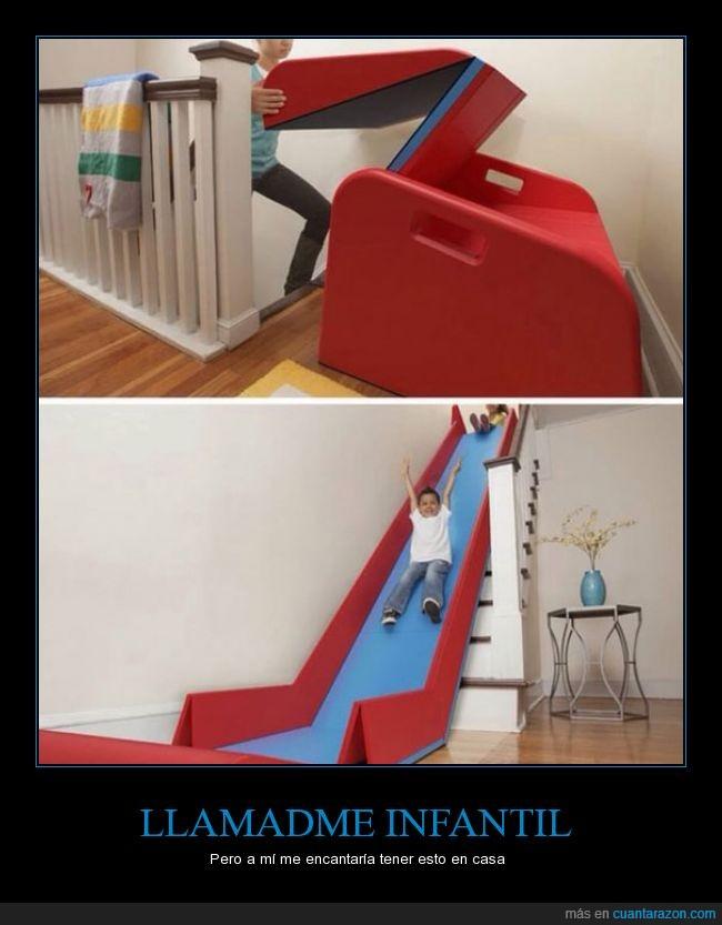 bajar,casa,escaleras,juego,jugar,juguete,niño,tirar,tobogan