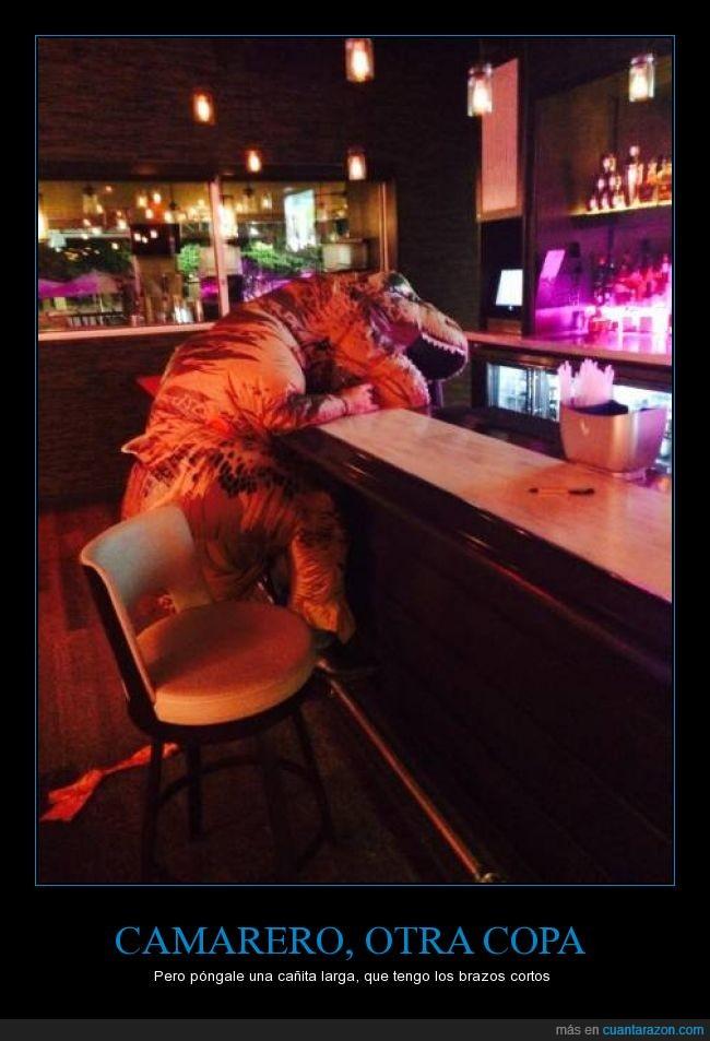 bar,camarero,cosplay,disfraz,rex,t rex,t-rex,tiranosaurio,trex