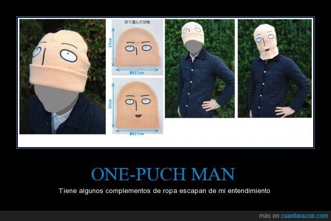 anime,bajar,calvo,complementos,gorro,one-punch man