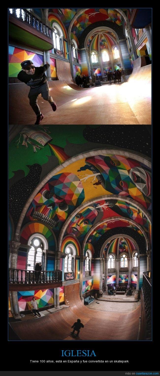 colorido,genial,half,iglesia,Llanera,skate,skatepark
