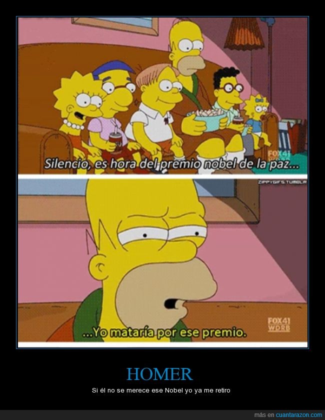 bart,homer,lisa,los simpsons,maggie,milhouse,obama,premio nobel,yao ming