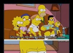 Enlace a Hitler estuvo nominado, Homer se lo puede llevar