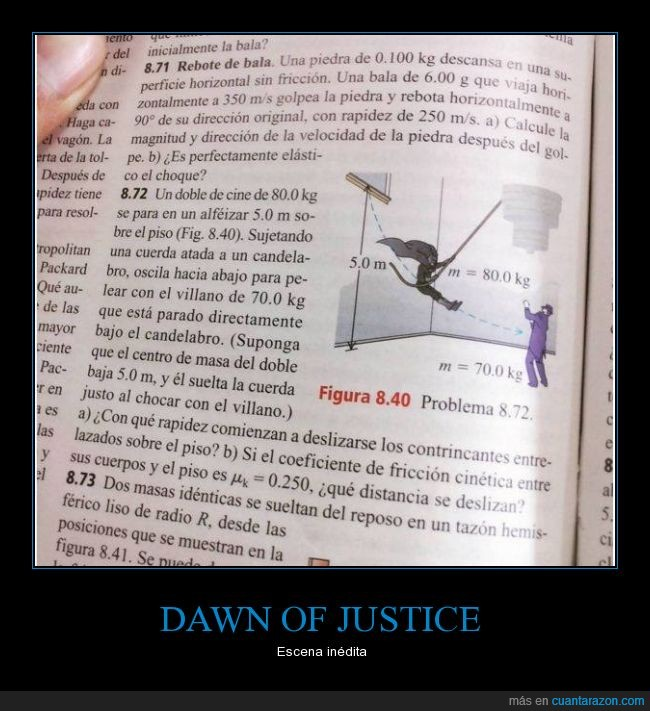 batman,cuerda,dawn of justice,dinamica,fisica,movimiento,superman