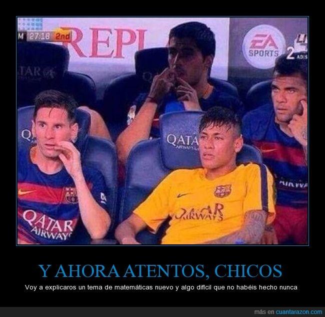 difícil,entender,imposible,matemáticas,Messi,Neymar,Suarez,tema