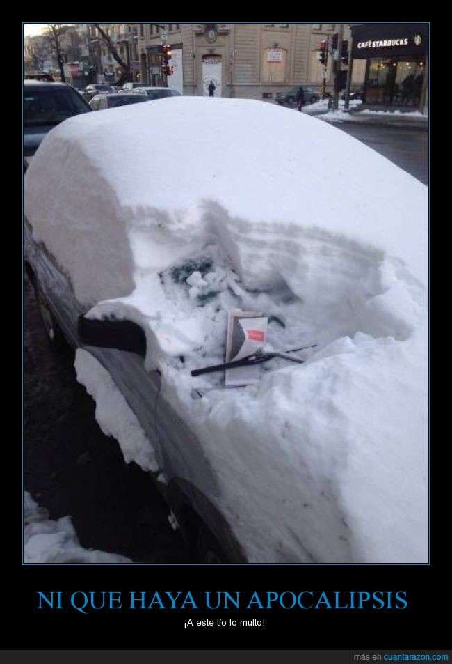 apartar,coche,dejar,multa,nieve,nota,parabrisas