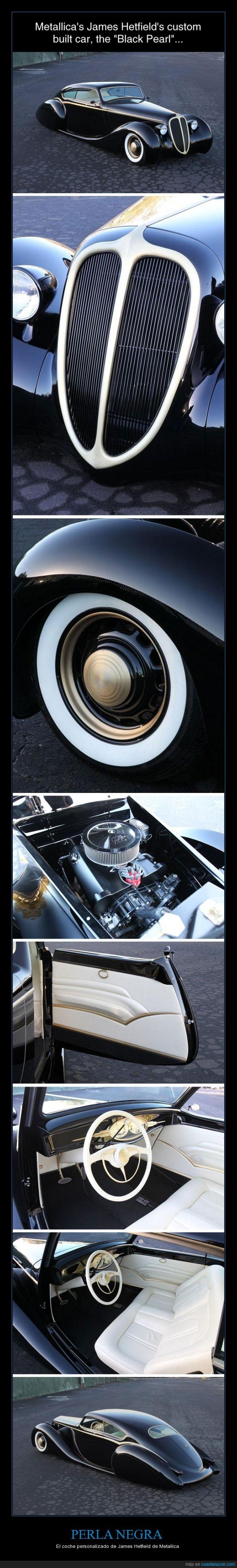 coche,james hetfield,metallica,negro,personalizado