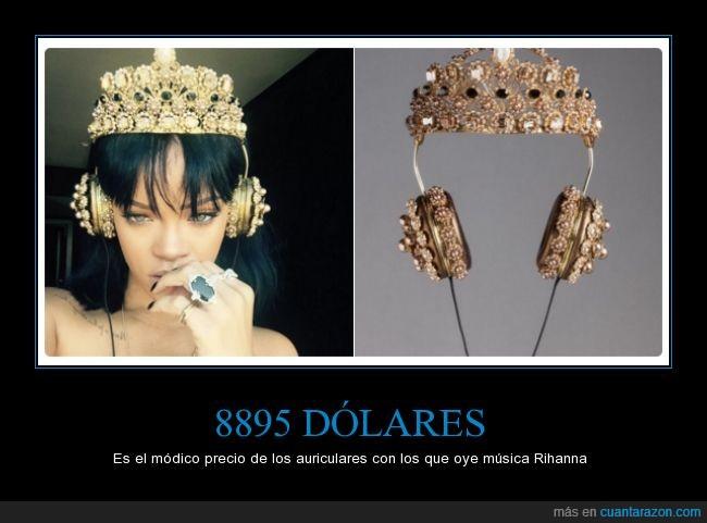 8895,auriculares,barato,cascos,Dolce & Gabbana,música,Rihanna
