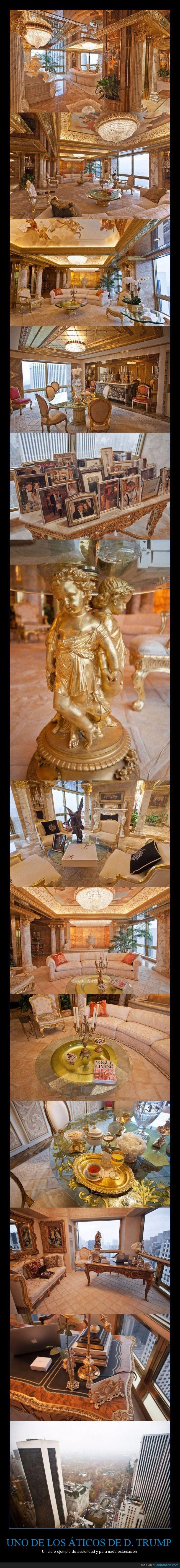 angel,apartamento,atico,barroco,Donald Trump,oro,piso
