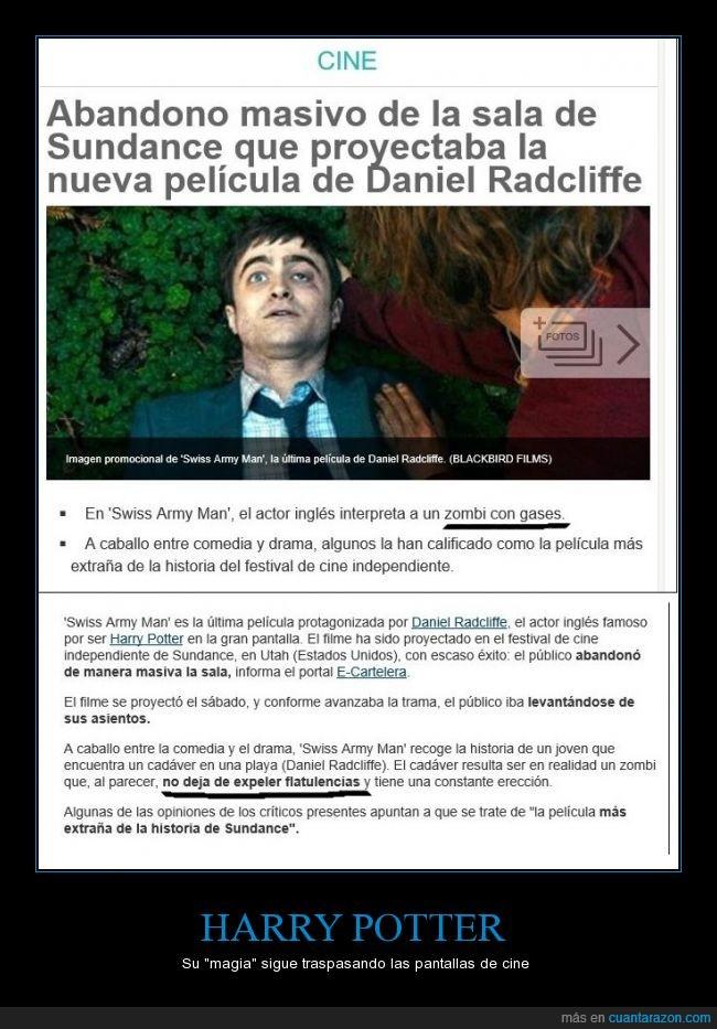 Algo huele a muerto,Daniel Radcliffe,Flatulencia,Gases,Harry Potter,Olor