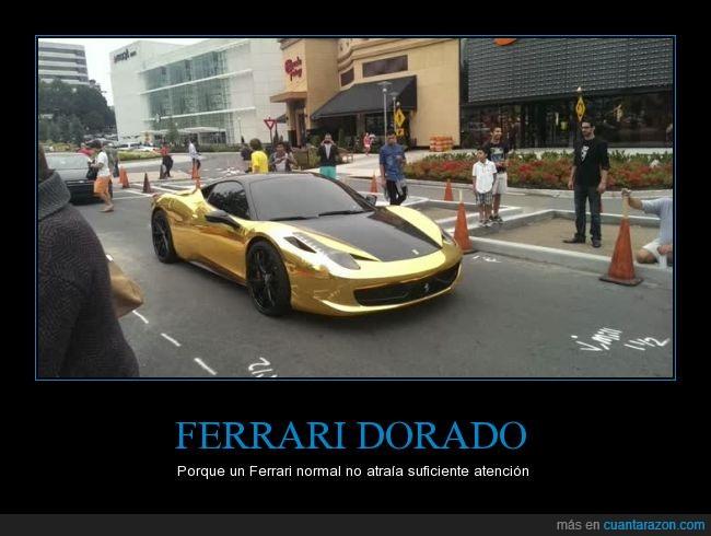 coche,dorado,ferrari,oro
