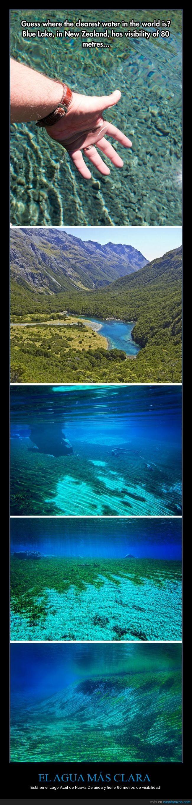 agua,clara,Lago Azul,nueva zelanda,transparente,visibilidad