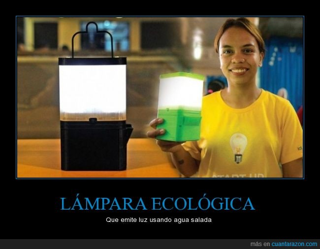 agua,energía,lámpara,luz,renovable,salada