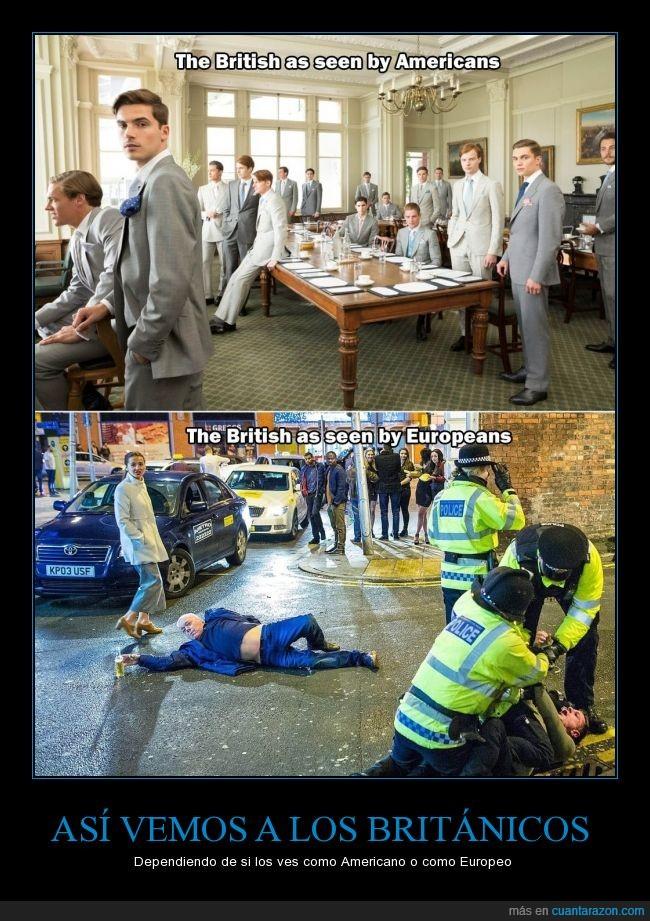americanos,borrachos,británicos,elegantes,Estados Unidos,estereotipos,fama,ingleses,tirados