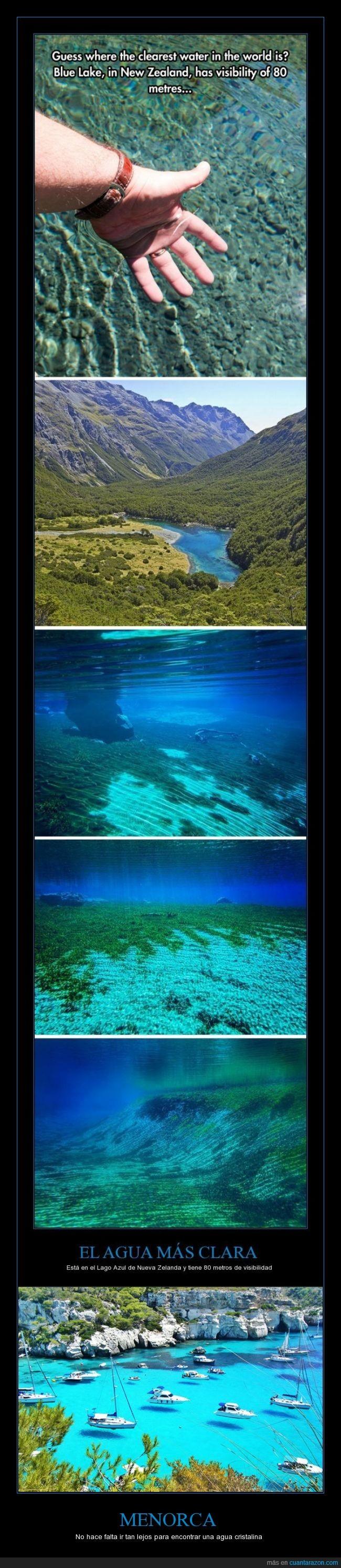 agua,cristalina,lago,menorca,playa