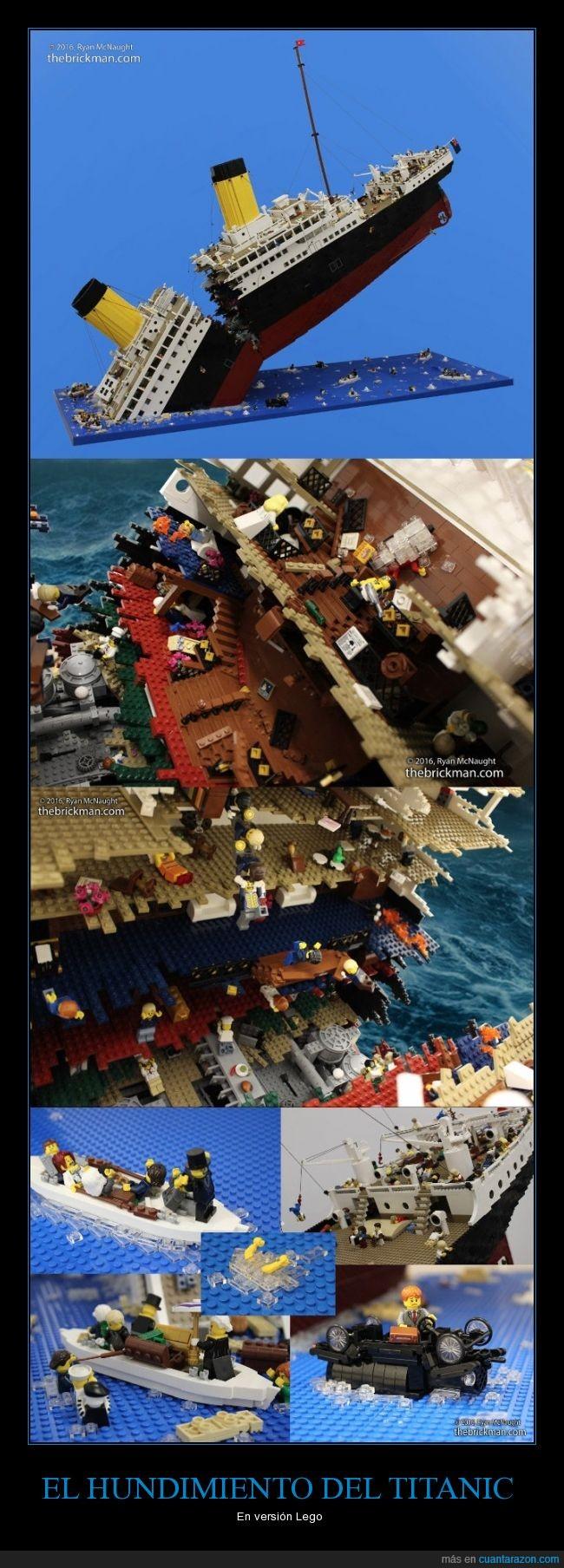 barco,figura,hundimiento,Lego,Titanic