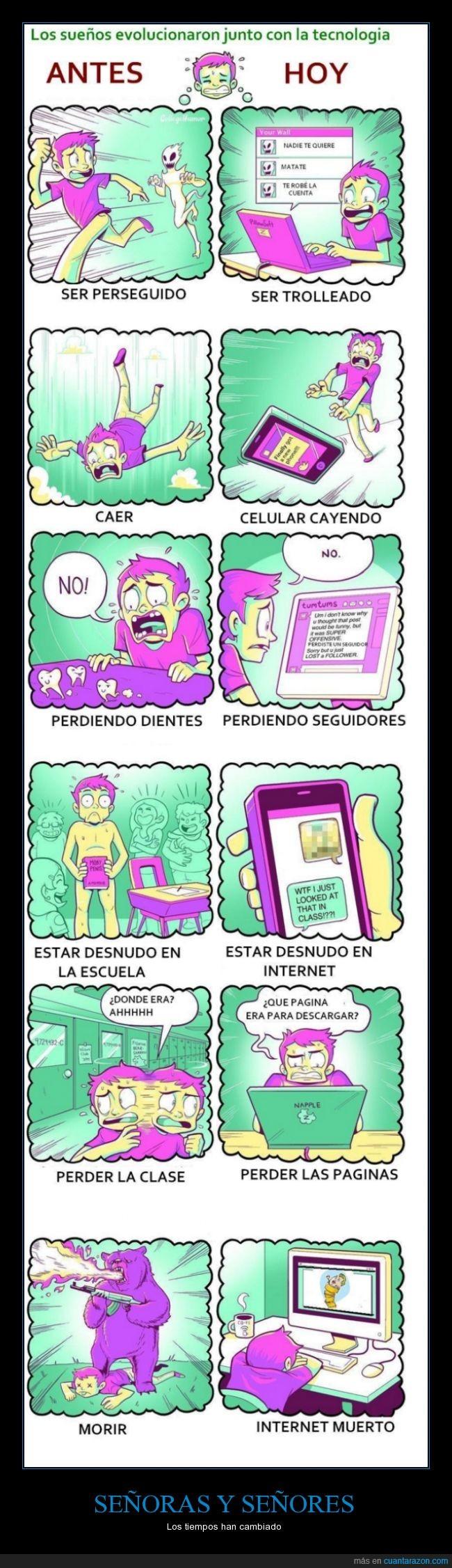 caricatura,cómic,dibujos,humor,internet,miedo,pagina,seguidor