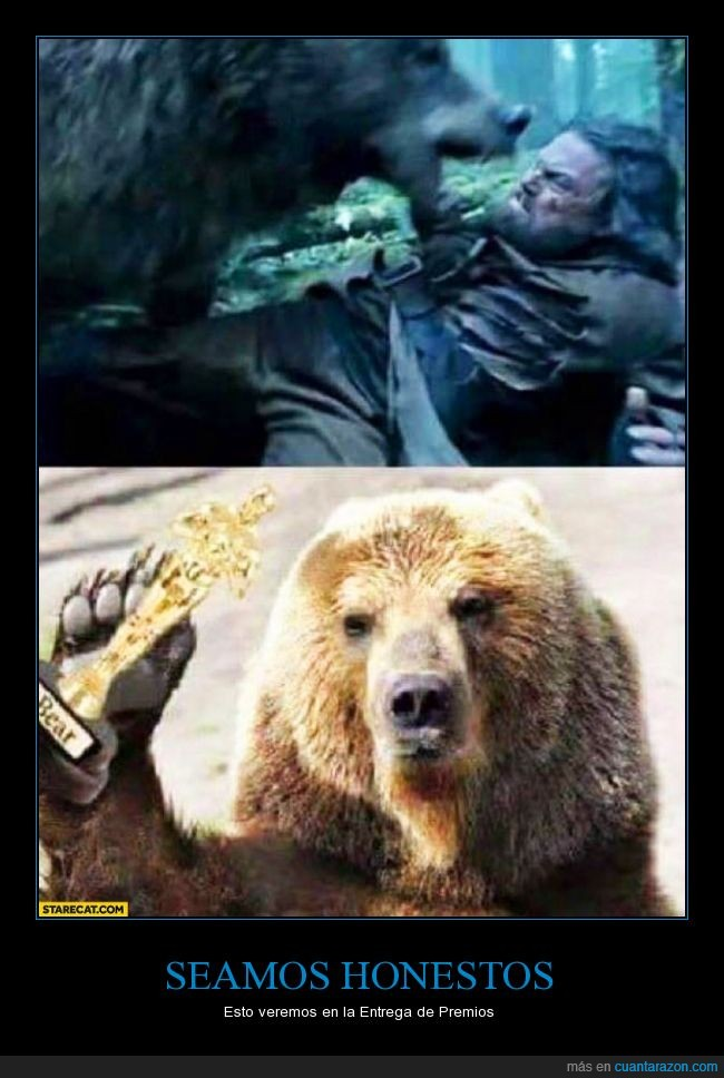 di caprio,oscar,oso,the revenant
