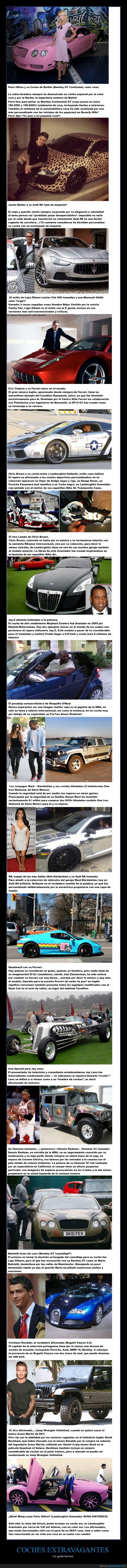artistas,cantante,coche,deportistas,extravagancias,Jay-Z,Justin Bieber,Kanye West,Kim Kardashian,Nicki Minaj,Paris Hilton