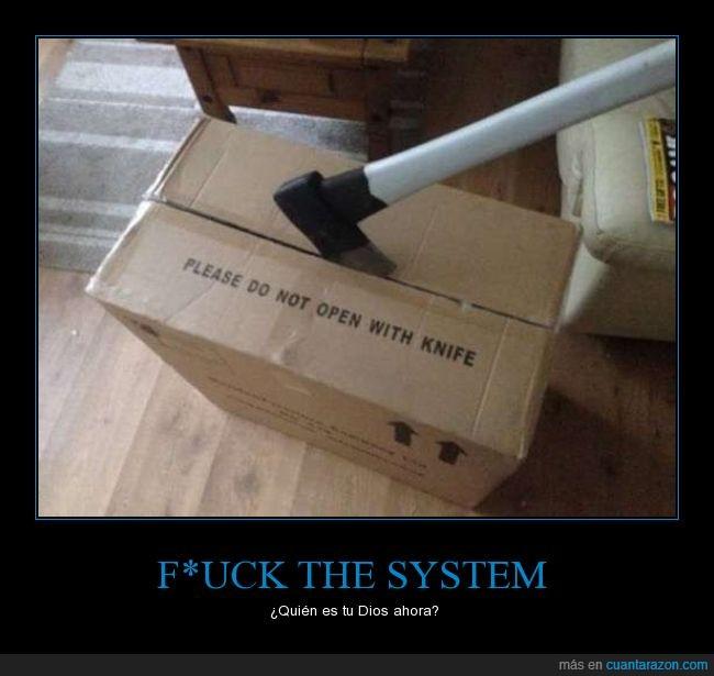 abrir,caja,cuchillo,hacha,recomendaciones