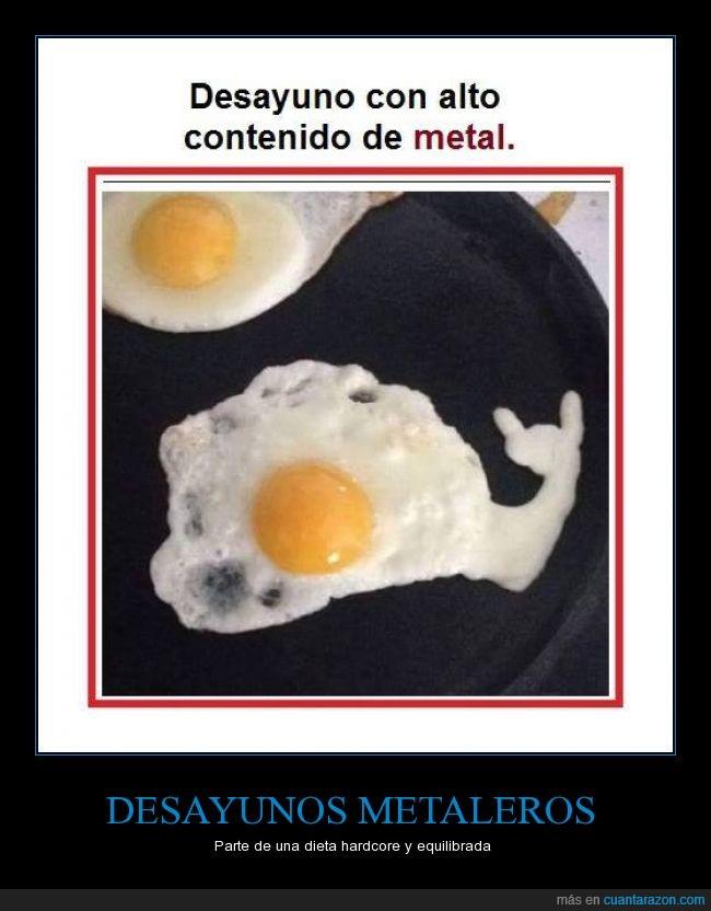alimentos,desayuno,hardcore,huevos,metal,rock