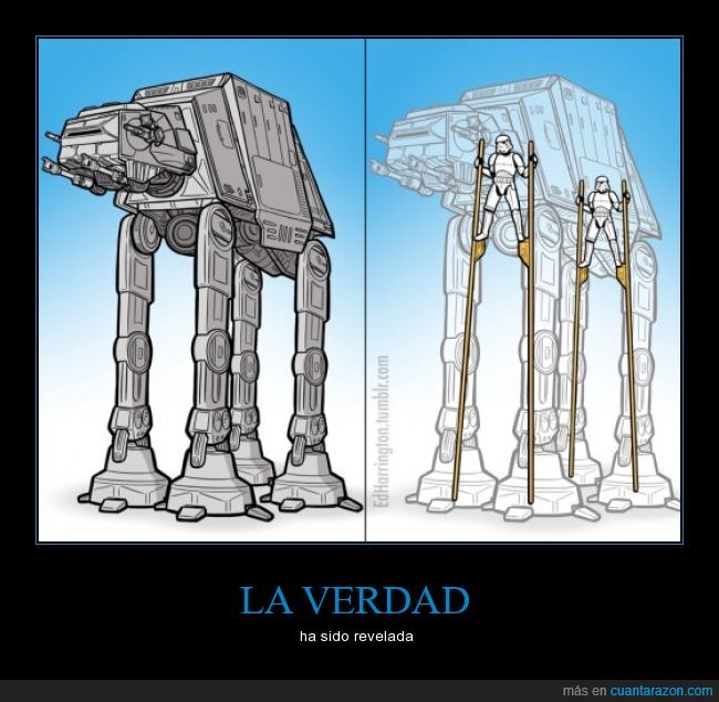 AT-AT,revelar,star wars,stroomtropers,verdad,zancos