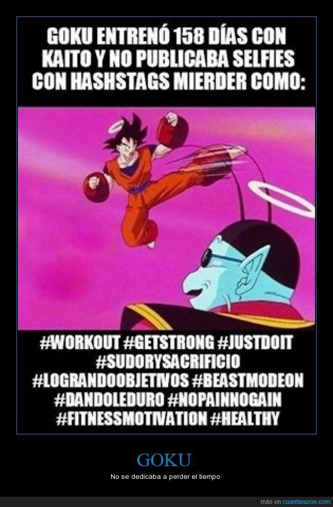 bola de dragon,dragon ball,entrenamiento,entrenar,goku,hashstag,kaito,workout