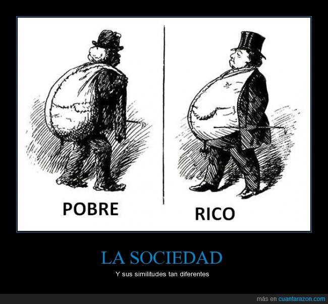 bolsa,caminar,cargar,genial,gordo,grande,pobre,rico,sociedad