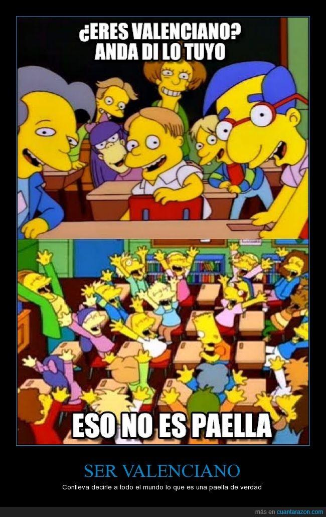 di tu frase,los simpson,paella,Valencia,valenciano