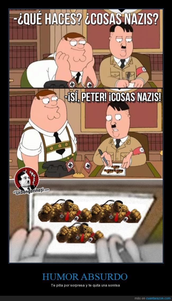 Cosas,hitler,nazis,padre de familia,peter