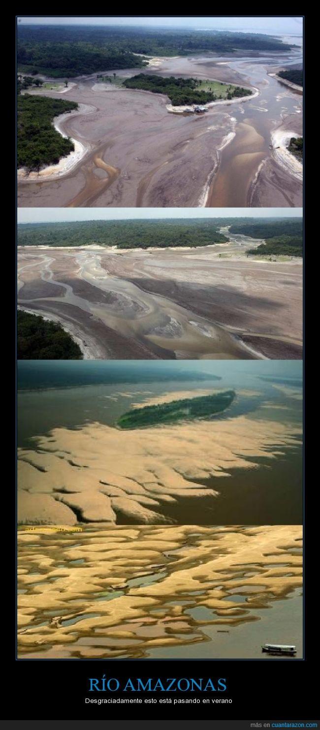 Amazonas,Calentamiento Global,Caudaloso,Deforestación,Fenomeno del Niño,Seco
