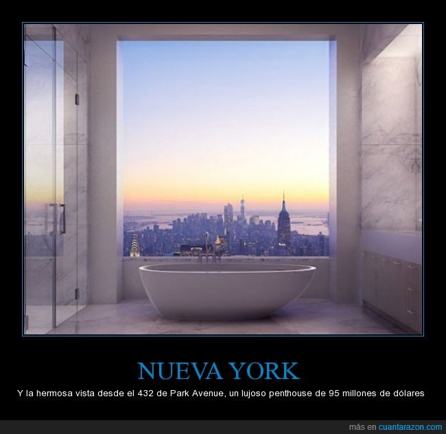 95,bañera,caro,cielo,genial,lindo,lujoso,nueva york,park avenue,vista