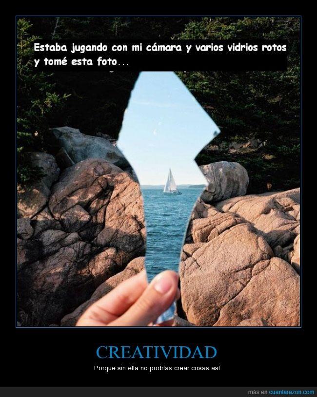 canal,creatividad,fotos,genial,parece espejo,rocas,vidrio