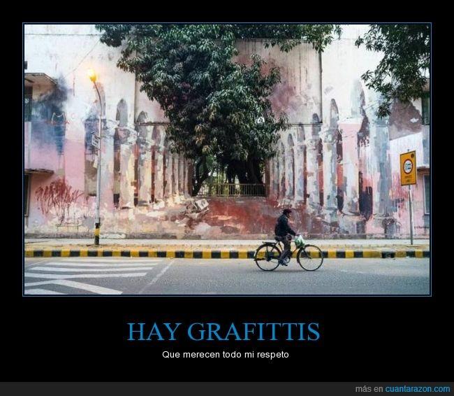 arte,bici,graffiti,perspectiva,pintura,trampantojo