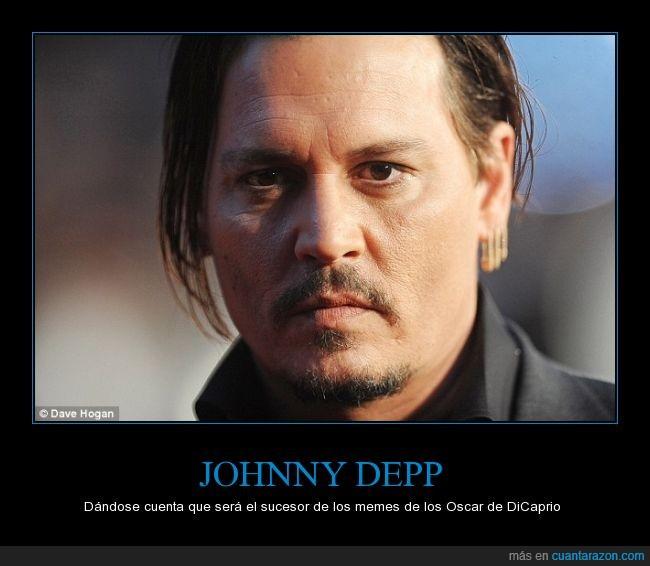 cine,es una pena por que es un buen actor,johnny depp,no tiene Oscar