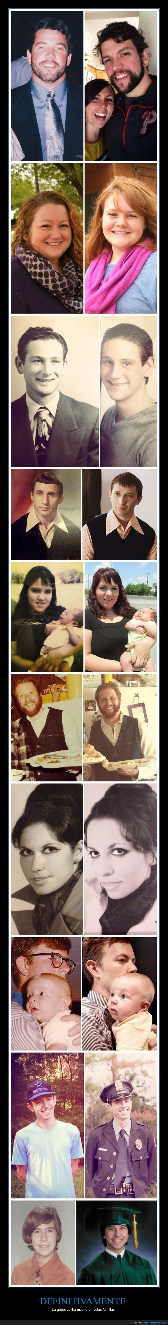 abuela,abuelo,genetica,hija,hijo,madre,padre,parecido
