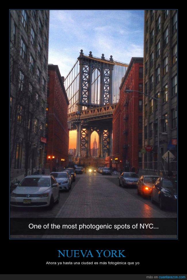 atardecer,ciudad,coche,nueva york,puente