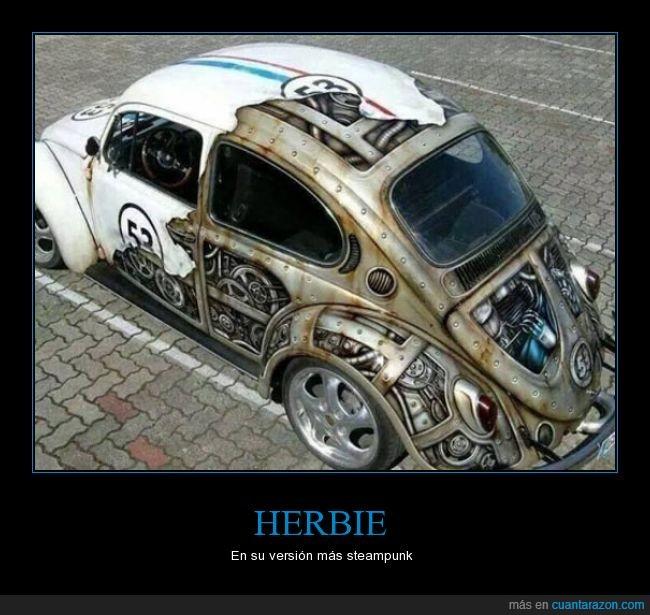 coche,herbie,steampunk,volkswagen
