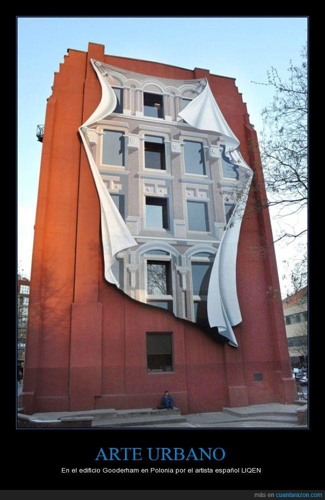 arte,edificio,español,fachada,Liqen,polonia,urbano,ventana