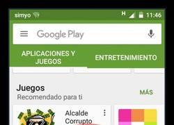 Enlace a Google Play sabe perfectamente lo que es popular en mi zona...