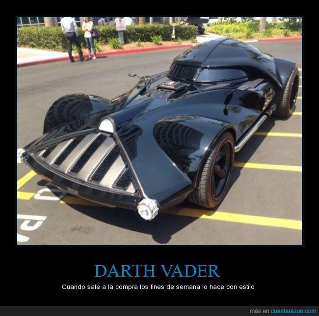 coche,cosplay,Darth Vader,máscara,Star Wars,tuneado,tuning