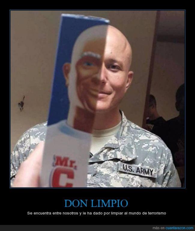 calvo,Don Limpio,limpio,militar,mr proper,parecidos,rapado,soldado