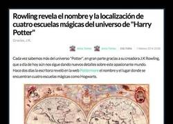 Enlace a J.K Rowling revela el nombre de cuatro escuelas mágicas más