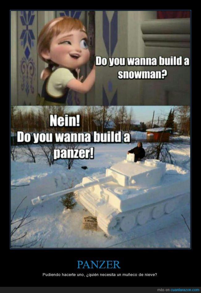alemán,Anna,canción,construir,frozen,genial hecho,hacer,nieve,panzer,tanque